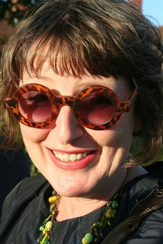 Ann-Marie Powell in very funky shades! by Alitex UK, via Flickr