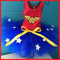 Wonder Women Tutu Set by ICanOnlyImagineOKC on Etsy, $45.00