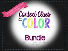 40 worksheets and 120 words!  Use color coding to help kids in grades 2-6 learn how to use context clues.