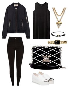 """""""only black☑️"""" by fatimah42 on Polyvore featuring Zara, Monki, Miu Miu, Louis Vuitton, Givenchy, Cartier and Chanel"""