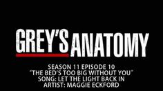 Grey's Anatomy S11E10 - Let The Light Back In by Maggie Eckford