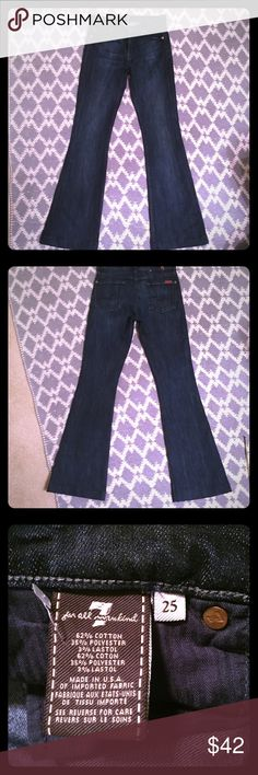 Seven for all mankind jeans size 25 Seven for all mankind jeans size 25 inseam 30 nwot Seven7 Jeans Flare & Wide Leg