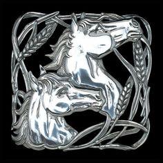Horse Wheat Trivet by Arthur Court