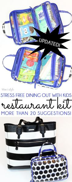 This would make a great family gift along with a restaurant gift card for the parents!! Make eating out less stressful and more fun for parents and kids alike by creating a restaurant kit! More than 20 suggestions for kids, as well as essentials for babies and toddlers!