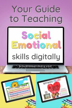 Need teaching strategies and educational tools for teaching social and emotional skills online or in the classroom? Learn how to use digital social-emotional learning activities to strengthen your virtual classroom and in-person lessons with kids (kindergarten, first, second, third) in elementary. Ideas for morning meetings, reading, and strategies for partner work, whole group lessons, and one-to-one classrooms are included. Download a FREE empathy wrinkled heart activity for Google Slides! Respect Activities, Teaching Respect, Social Emotional Activities, Social Emotional Development, Learning Activities, Teaching Strategies, Teaching Ideas, Wrinkled Heart, Character Education Lessons