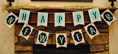 New Year's Banner (Free Printable), New Years Crafts