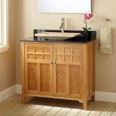 """36"""" Narrow Betong Bamboo Vessel Sink Vanity - Bathroom Vanities - Bathroom"""