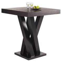 Enrich the interior decor of your living space with the Madero bar table. Designed with contemporary style, this solid ash wood table comes in a rich dark espresso finish to complement a wide variety of decor styles.