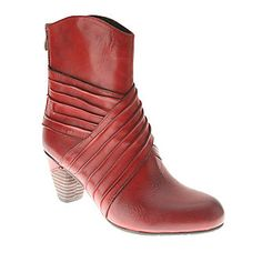 """L'Artiste by Spring Step """"Merci"""" Ankle Boots in Red"""
