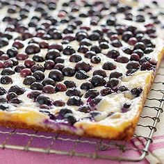 Coconut-Blueberry Cheesecake Bars---for dad