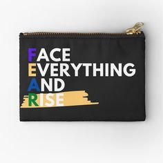 Face Everything And Rise, Canvas Prints, Art Prints, Zipper Pouch, Zip Around Wallet, My Arts, Printed, Awesome, Stuff To Buy