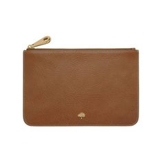 08bc55326c Mulberry - Long Locked Purse in Oak Natural Leather With Brass ...