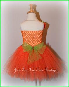 Pumpkin tutu dress orange dress costume by Justforfuntutu on Etsy