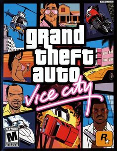 Grand Theft Auto - Vice City. played on PS2