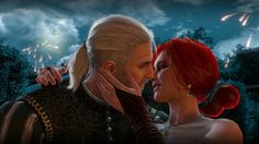 The witcher 3 Wild Hunt  Geralt of Rivia and Triss Merigold Kiss