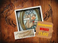 Steampunk winged frame tutorial Fernli Designs GDT project2