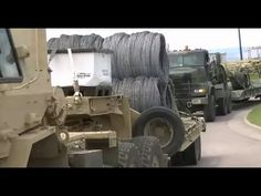Razor Wire Transported through Colorado during Raider Focus Exercise, a simulated war game. 4,000 plus troops, 650 plus military vehicles, 30 plus strykers.  Alex Ansary   Published on Jun 5, 2015 From All Pipeline News: Hundreds Of Miles Of Razor Wire On Convoy Trucks - Will It Be Used To Divide Colorado For Reconquista Or FEMA Camps For Those Who Rebel Against What's Coming? ALSO Global war games going on in other countries.