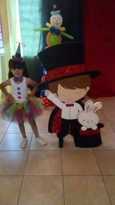 Disfraz niña Payasa circo