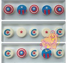 I Love Candy by Luci | Oreos #captainamerica #oreos #fondant #chocolate  I Love Candy by Luci | Oreos   I Love Candy by Luci Baltimore, MD Candybyluci.wix.com/candyapple Ilovecandybyluci.blogspot.com Instagram: @candybyluci Facebook: I Love Candy by Luci
