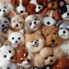 Amazing Needle felting wool animals pet cats dogs(Via irina_polly)