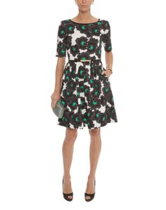 Floral Printed Stretch Cotton Dress