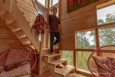 Tall Red Tiny House near Belleville Ontario