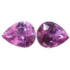 0.77 ct Pair of Pear Shape Pink Sapphires Rich Pink -Gold Crane & Co.