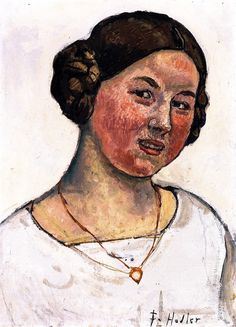 Swiss Girl with Necklace Ferdinand Hodler - 1913.  Art Experience:NYC  http://www.artexperiencenyc.com/social_login