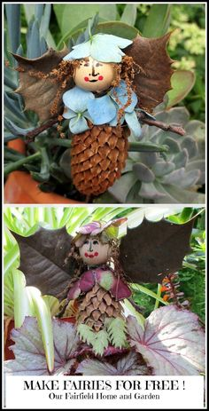 Make Fairies For Free!   http://ourfairfieldhomeandgarden.com/diy-project-making-fairies-from-natural-materials/