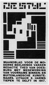 Capa da primeira edição da revista De Stijl, de 1917