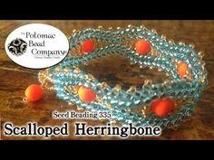 ▶ Make Scalloped Herringbone Stitch Jewelry - YouTube free tutorial from The Potomac Bead Company www.potomacbeads.com Buy Online: www.thebeadco.com