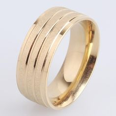 Find More Rings Information about 8mm Three circle Gold stripes 316L Stainless Steel finger rings for men women wholesale,High Quality ring bearing,China ring stainless steel Suppliers, Cheap ring rubber from Chinese Jewelry Factory,Wholesale From Yiwu China on Aliexpress.com