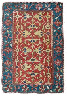 Lot 29, a Lotto rug 5ft. 7in. x 3ft. 10in. Turkey circa 1700. Estimate $16,440 – 15,000 and hammer price $32,880