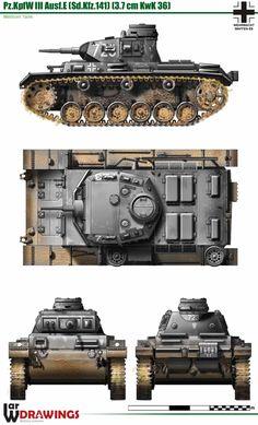PzKpfw III Ausf.E (Sd.Kfz. 141)(37mm KwK 36)