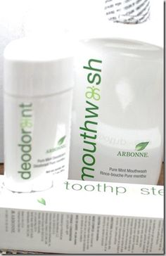 Arbonne's Pure Mint line consists of a delicious natural toothpaste and an amazing deodorant. Easily the BEST natural deodorant I have ever tried!