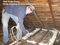 Remodel Green Tip #3 Getting your attic air sealed to stop all air movement in AND out is paramount to a successful green remodeling job due to the stack effect. This CAN be a DIY job (warning: it's tedious and time consuming to do it correctly) or use you can use the estimator on our website to find a local contractor to do it for you. Photo courtesy of www.homerepairservices.org