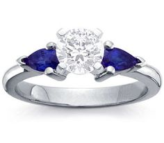 engagement ring diamond and sapphire - Google Search