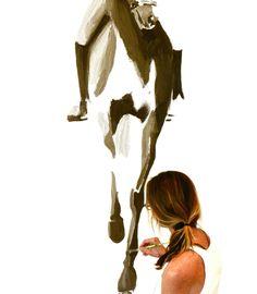 Alison Van Pelt painting Horses
