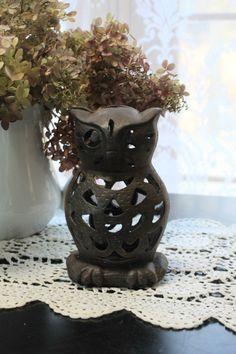 Vintage Cast Iron Owl