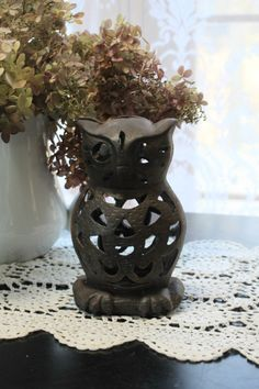 Vintage Cast Iron Owl