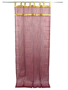 Embroidered Sheer Curtains - Available in a wide choice of colors ranging from Beaded Organza Curtains at mogulinterior. Tab Top Curtains, Sheer Curtains, Drapery, Indian Curtains, Window Sheers, Indian Furniture, Moroccan Decor, Window Coverings, Window Treatments