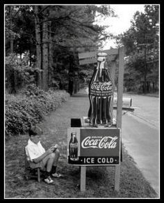 Coca-Cola stand - (1936) Atlanta, Georgia. I figured I'd pin this since I'm currently in Atlanta