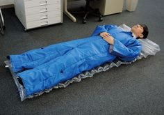 A wearable air mattress.