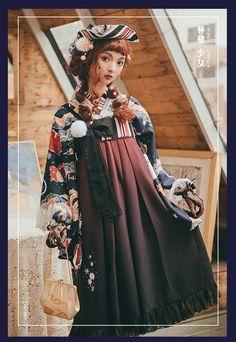 ZJ Story -Plum-leaved Apple- Wa Lolita Skirt/JSK (dual purpose) Emo Dresses, Cute Dresses, Fashion Dresses, Party Dresses, Punk Fashion, Lolita Fashion, Asian Fashion, Mode Mori, Punk Rock Outfits