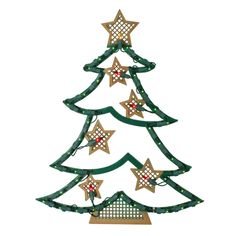 2 feet//60 cm Multi-Colour WeRChristmas Pre-Lit Acrylic Christmas Tree with 200 White LED Lights Display Decoration