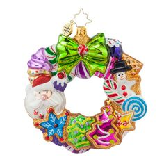 christopher radko treats wreath gingerbread glass christmas ornament radko ornament is approximately tall 2015 collection of mouth blown glass christmas - Christbaumschmuck 2015