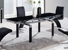 Global Furniture D88 Black Dining Table