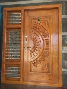 Single Main Door Designs, House Main Door Design, Wooden Front Door Design, Main Entrance Door Design, Grill Door Design, Double Door Design, Pooja Room Door Design, House Ceiling Design, Door Design Interior
