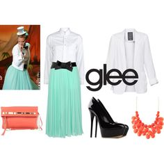 Brittany form Glee's Prom look
