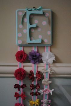 Handmade personalized hair bow holder
